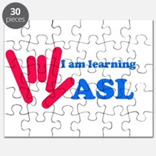 Learning ASL: Red and Blue Puzzle