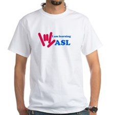 Learning ASL: Red and Blue Shirt