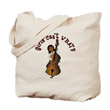 String Upright Double Bass Woman Tote Bag