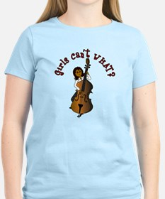 String Upright Double Bass Woman T-Shirt