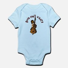 String Upright Double Bass Woman Infant Bodysuit
