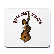 String Upright Double Bass Woman Mousepad