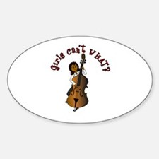 String Upright Double Bass Woman Decal