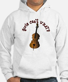 String Upright Double Bass Hoodie