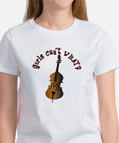 String Upright Double Bass Tee