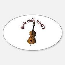 String Upright Double Bass Decal
