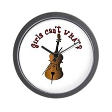 String Upright Double Bass Wall Clock