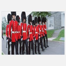 Guards marching with rifles, Changing of the guard