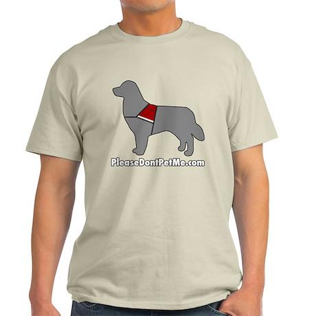 Please Don't Pet Me Dog Logo Light T-Shirt