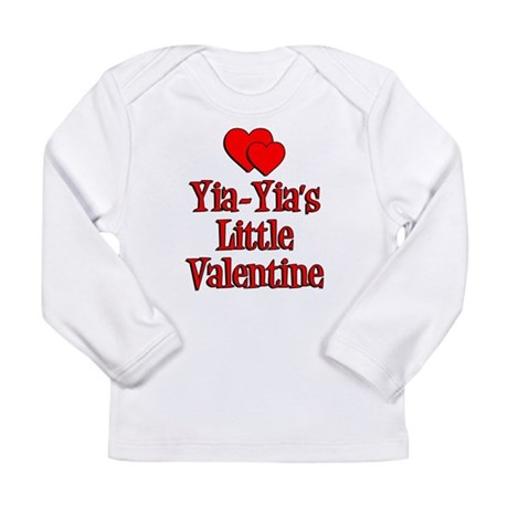 Yia-Yia's Little Valentine Long Sleeve Infant T-Sh