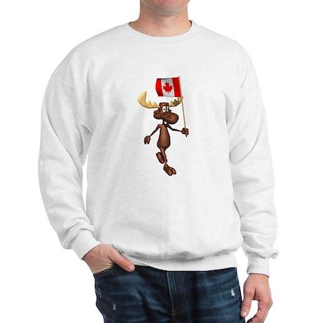 3D Moose With Canada Flag Sweatshirt