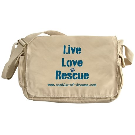 Live Love Rescue Messenger Bag
