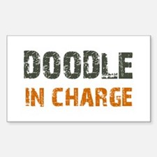 Doodle IN CHARGE Sticker (Rectangle)
