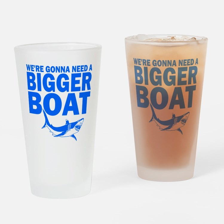 """...Bigger Boat"" Drinking Glass"