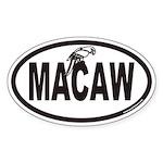 MACAW Euro Oval Sticker