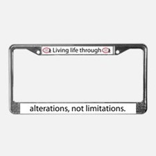 Alterations not limitations License Plate Frame