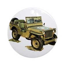 Willys Jeep Ornament (Round)