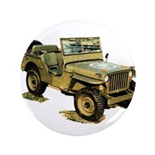 """Willys Jeep 3.5"""" Button (100 pack)"""