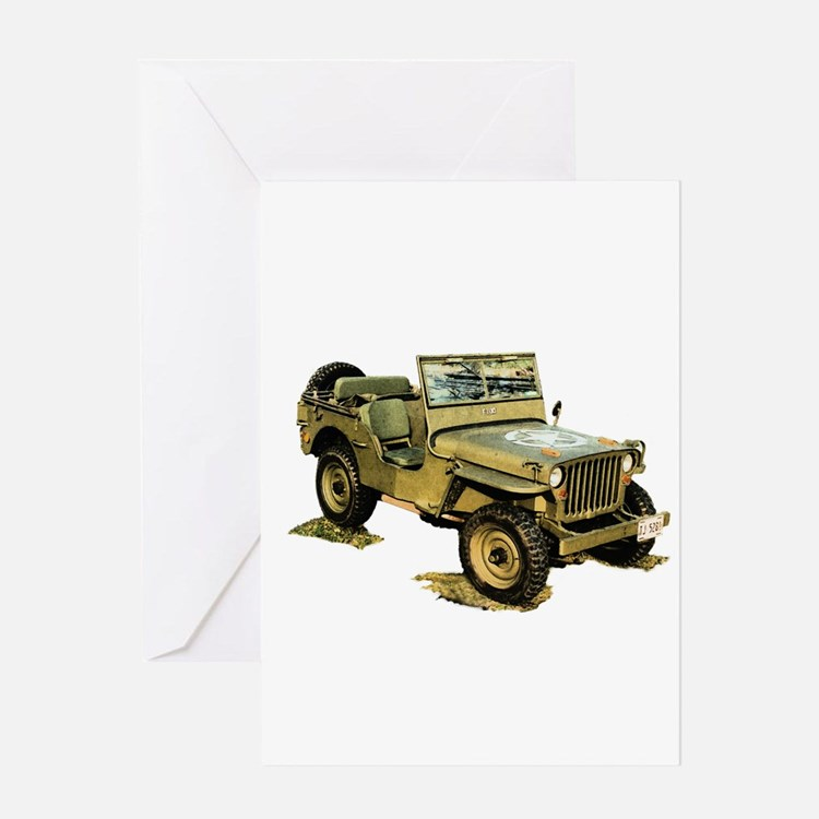 Willys Jeep Greeting Card