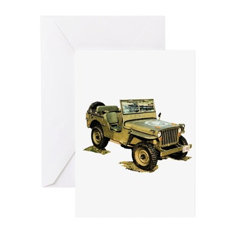Willys Jeep Greeting Cards (Pk of 10)