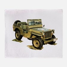 Willys Jeep Throw Blanket