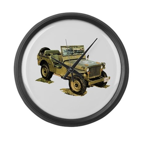 Willys Jeep Large Wall Clock