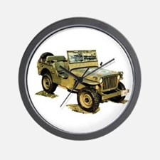 Willys Jeep Wall Clock