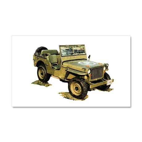 Willys Jeep Car Magnet 20 x 12