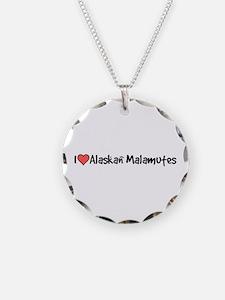 I heart Alaskan Malamutes Necklace