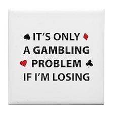 Gambling Problem Tile Coaster