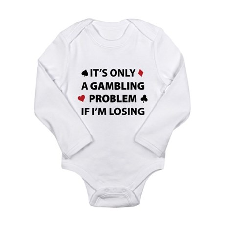 Gambling Problem Long Sleeve Infant Bodysuit