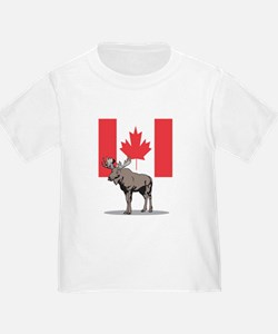 Moose With Canada Flag T