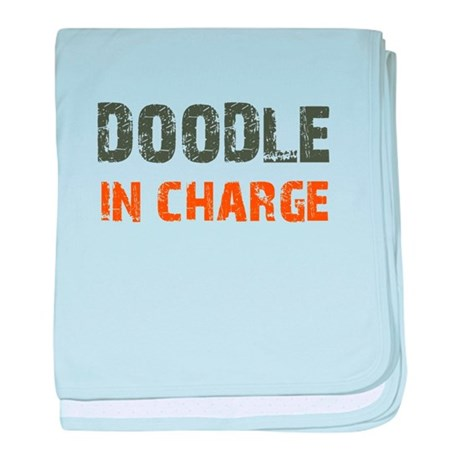 Doodle IN CHARGE baby blanket