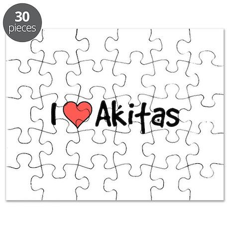 I heart Akitas Puzzle