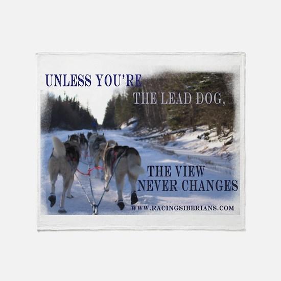 Lead Dog Throw Blanket