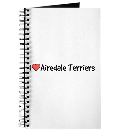 I heart Airedale Terriers Journal