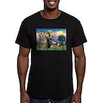 St Francis/Aussie (#5) Men's Fitted T-Shirt (dark)