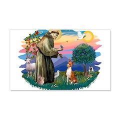 St Francis #2/ Basenji 22x14 Wall Peel