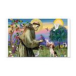 St Francis/Beagle 22x14 Wall Peel
