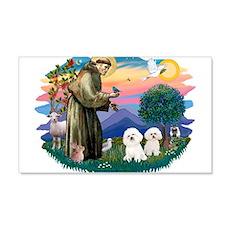 St Francis #2/ Bichon (2) 22x14 Wall Peel