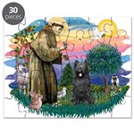 St.Francis #2/ Briard (blk) Puzzle