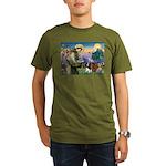 St Francis/Cavalier Trio Organic Men's T-Shirt (da