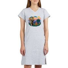 St Francis #2/ Chow (R) Women's Nightshirt