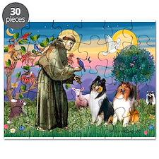 St Francis / Collie Pair Puzzle