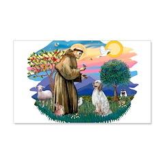 St.Francis #2/ English Set. 22x14 Wall Peel