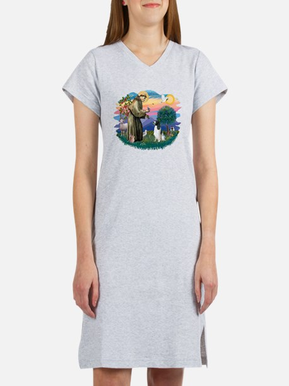 St Francis #2/ Eng Spring Women's Nightshirt