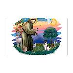 St Francis #2/ Fox Terrier 22x14 Wall Peel