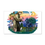 St.Francis #2/ Great Dane (bl 22x14 Wall Peel