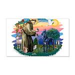 St.Francis #2/ Great Dane (bl 22x14 Wall Peel