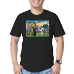 St. Francis & Great Dane Men's Fitted T-Shirt (dar